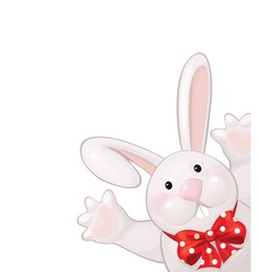 Funny rabbit vector image