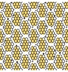 Natural honey seamless pattern bio hand vector