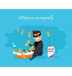 Offshore companies concept flat design vector