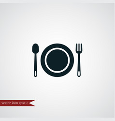 Plate icon simple vector