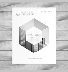 Modern magazine cover page design in size a4 vector
