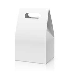 White blank hand paper bag vector image
