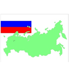 6204 russia map and flag vector