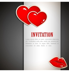 The valentines day invitation card vector