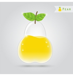 Pear fruit juice vector