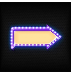 Volume retro arrow with lights vector