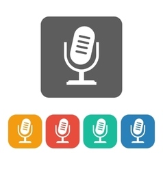 Microphone 2 icon vector