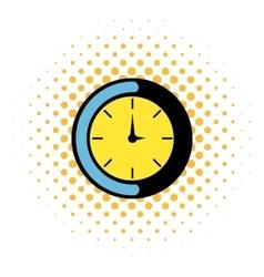 Clock icon comics style vector image