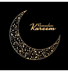 Traditional ramadan kareem month celebration vector