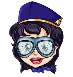 A head of an air hostess vector