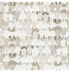 Abstract crowd of peoples seamless pattern for vector image vector image