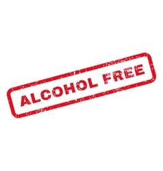 Alcohol free text rubber stamp vector
