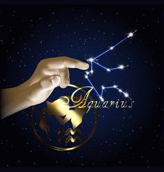 aquarius astrology constellation of the zodiac vector image vector image