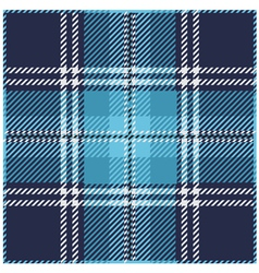 Blue Tartan Plaid Pattern vector image