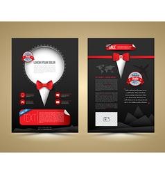 Brochure template design tuxedo style vector