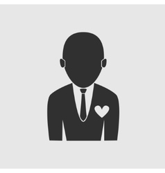 Businessman love job icon vector image vector image