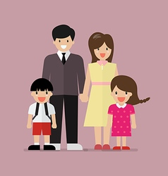Cartoon family flat style vector image vector image