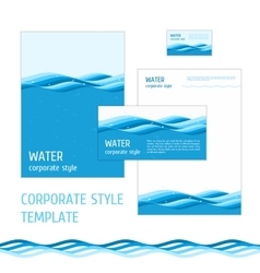 Corporate style template water vector