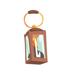 Gas lamp mining industry equipment cartoon vector