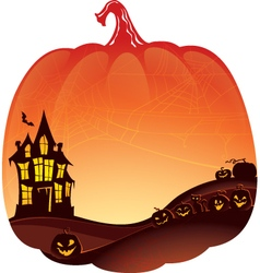 Halloween Double Exposure background vector image vector image