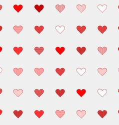 Hand drawn seamless pattern with hearts vector image