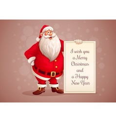 Merry Santa Claus standing vector image vector image