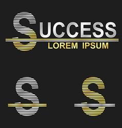 Metallic business font design - letter s vector