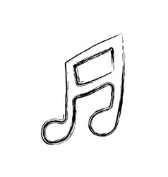 Musical note sign icon vector