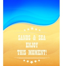 Sands and sea vector image