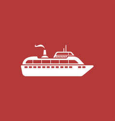 ship modern icon vector image vector image