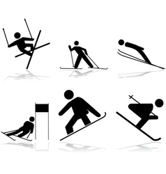 Snow sports vector image vector image