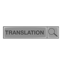 Translation search icon gray monochrome style vector