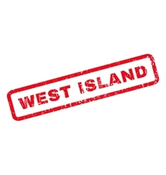 West island rubber stamp vector