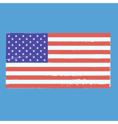 Vintage style flag of the united states of america vector