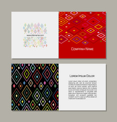 Greeting card abstract geometric design vector
