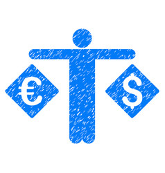 currency trader grunge icon vector image