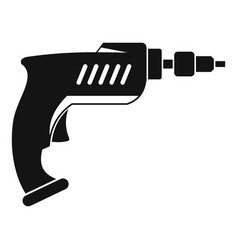 Drill icon simple vector