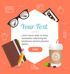 Hipster or business background card vector