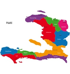 Haiti map vector