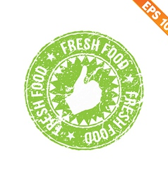 Rubber stamp food - - eps10 vector