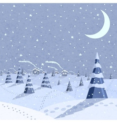 Winter landscape scene vector