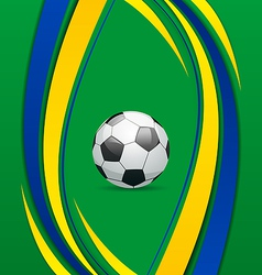 Footbal background in Brazil flag concept vector image