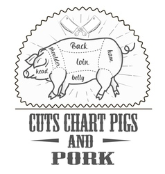 Cuts chart pigs vector