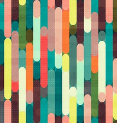 Retro stripe seamless pattern with grunge effect vector