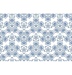 Blue ornament pattern vector