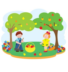 Children garden vector