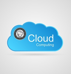 Cloud computing concept vector