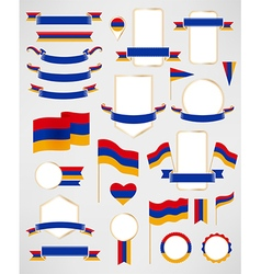 Armenia flag decoration elements vector