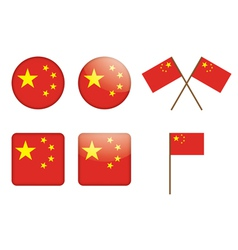 Badges witch flag of china vector