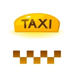 Taxi sign vector